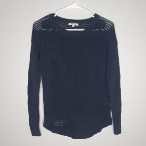 Madewell Navy Northshore Style Openknit Sweater